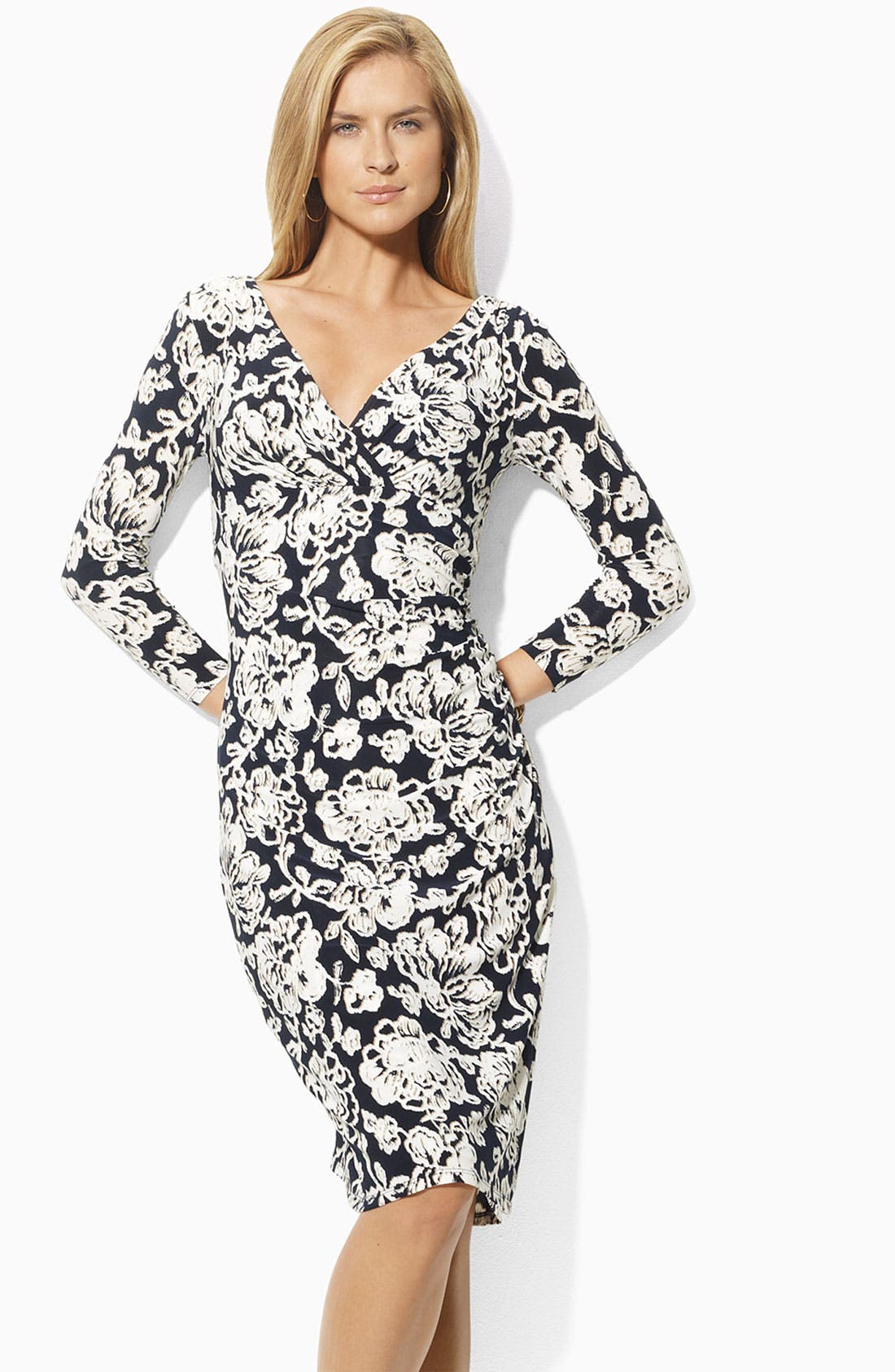 Main Image - Lauren Ralph Lauren Jersey Sheath Dress