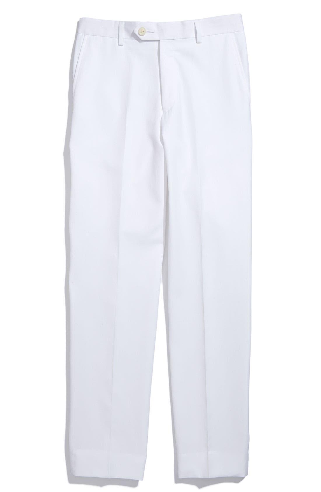 Alternate Image 1 Selected - Joseph Abboud Flat Front Dress Pants (Little Boys, Big Boys & Husky)