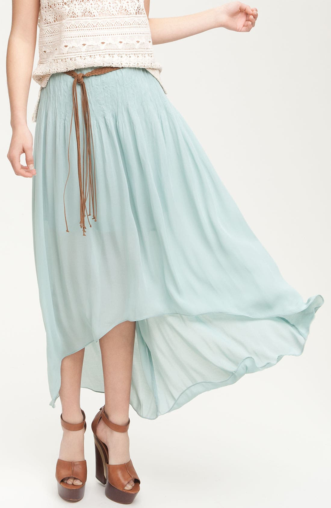 Alternate Image 1 Selected - Sanctuary 'Leotie' Crinkled Asymmetric Maxi Skirt