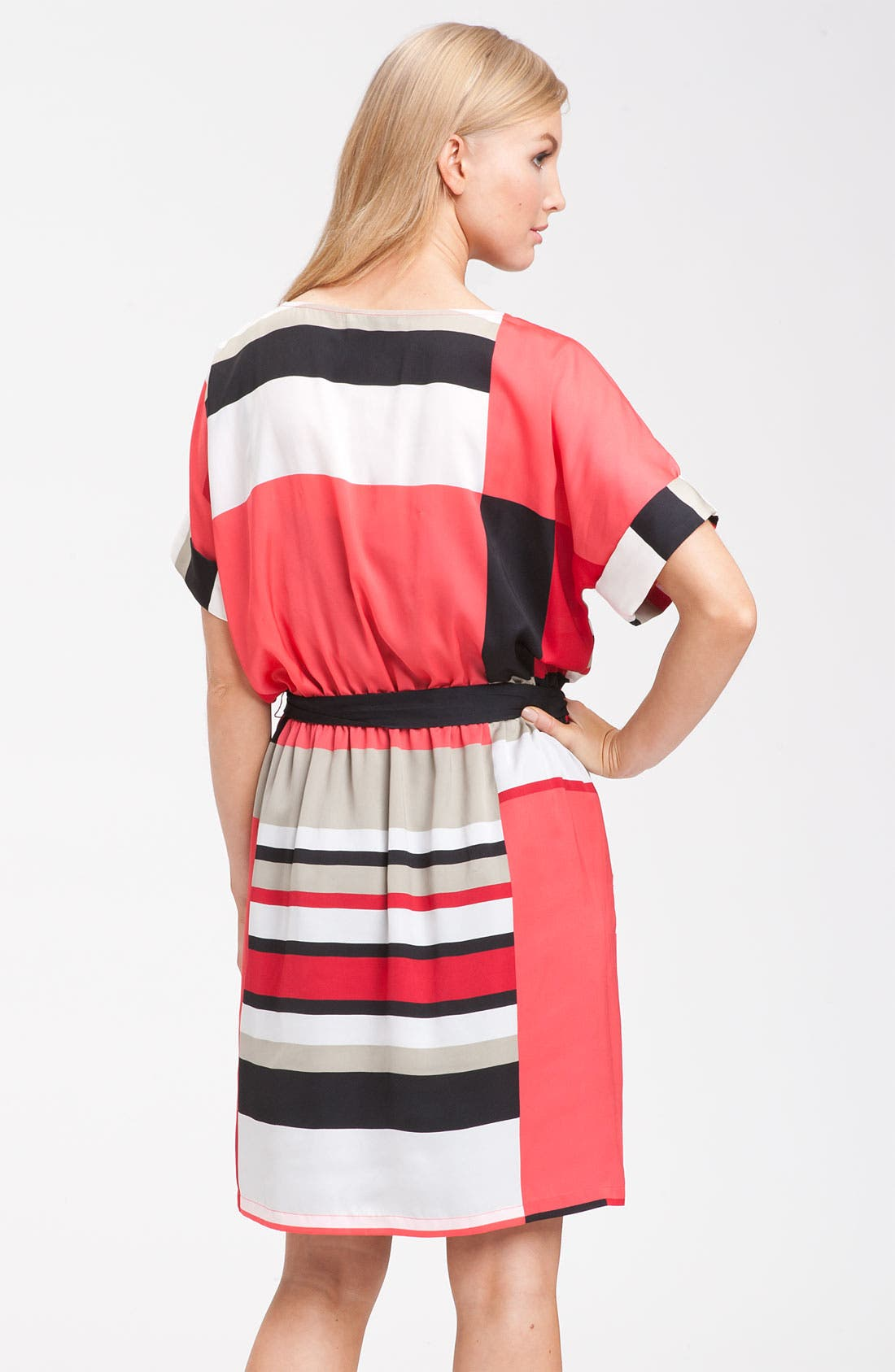 Alternate Image 2  - DKNYC Short Sleeve Geometric Print Dress