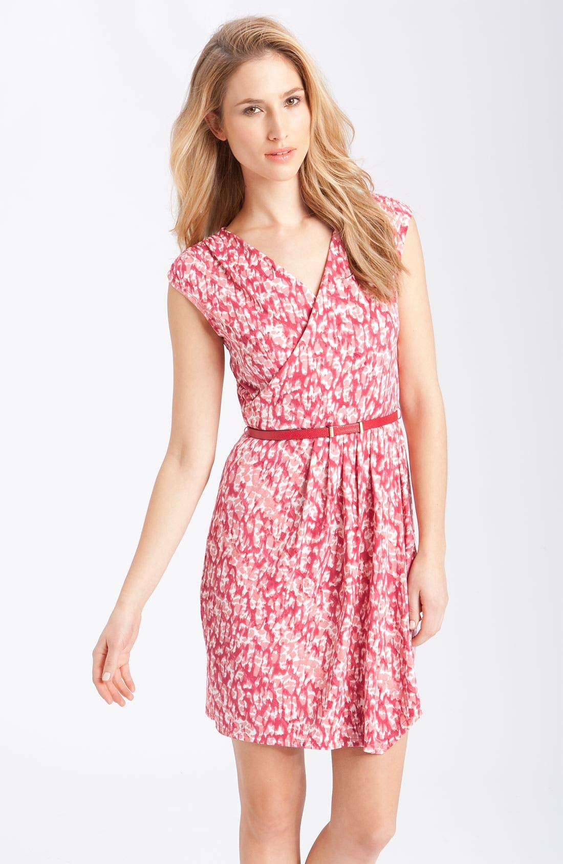 Main Image - Anne Klein Faux Wrap Matte Jersey Dress
