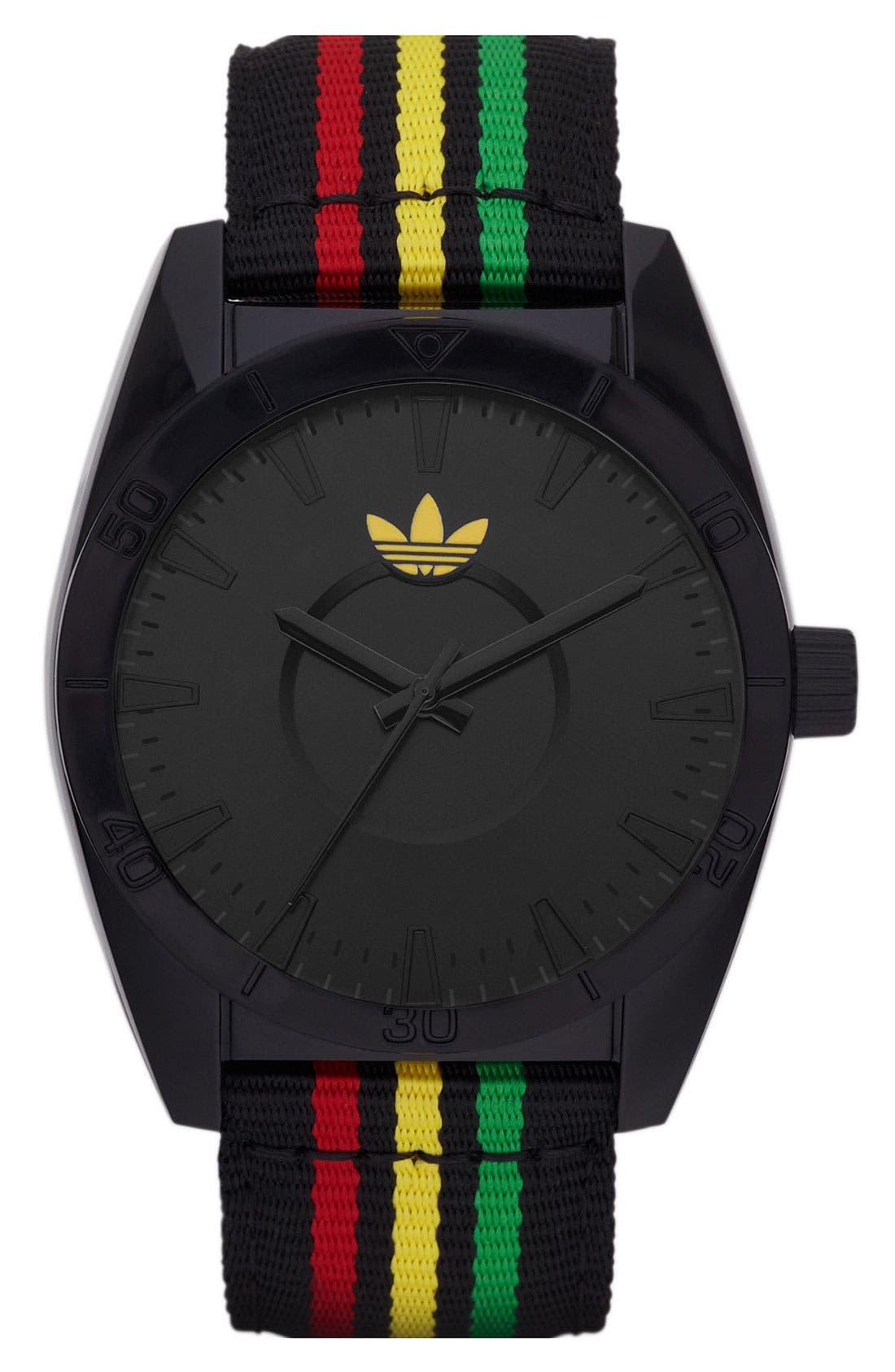 Main Image - adidas Originals 'Santiago' Nylon Strap Watch, 42mm