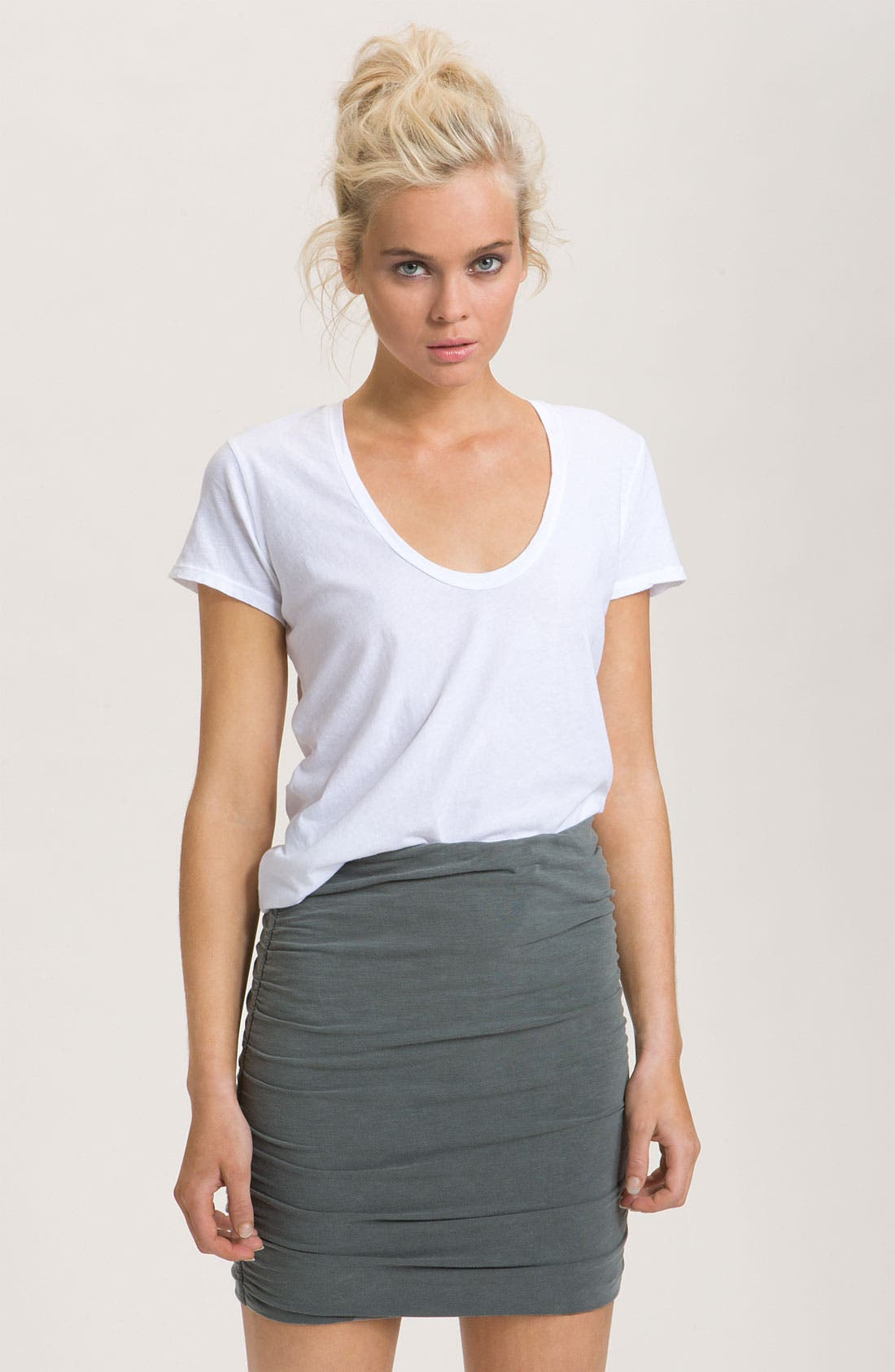 Main Image - James Perse Scoop Neck Cotton Tee