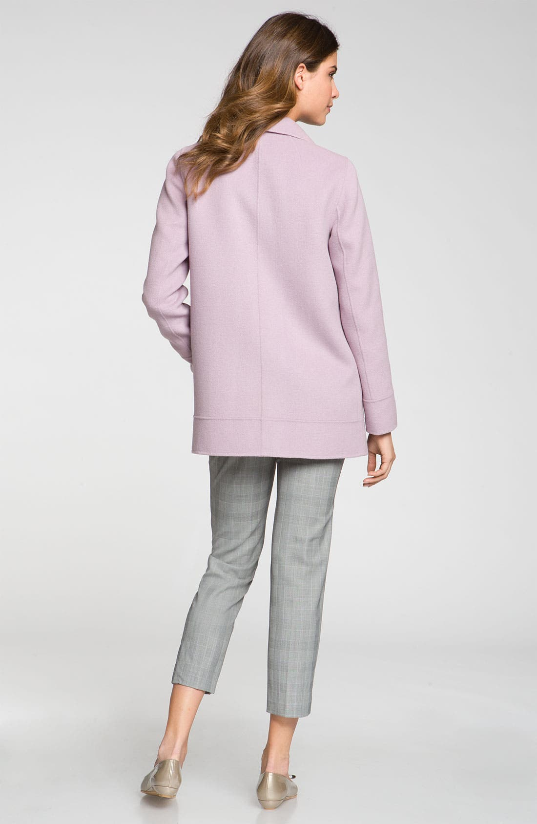 Alternate Image 2  - St. John Collection Angora Blend Coat