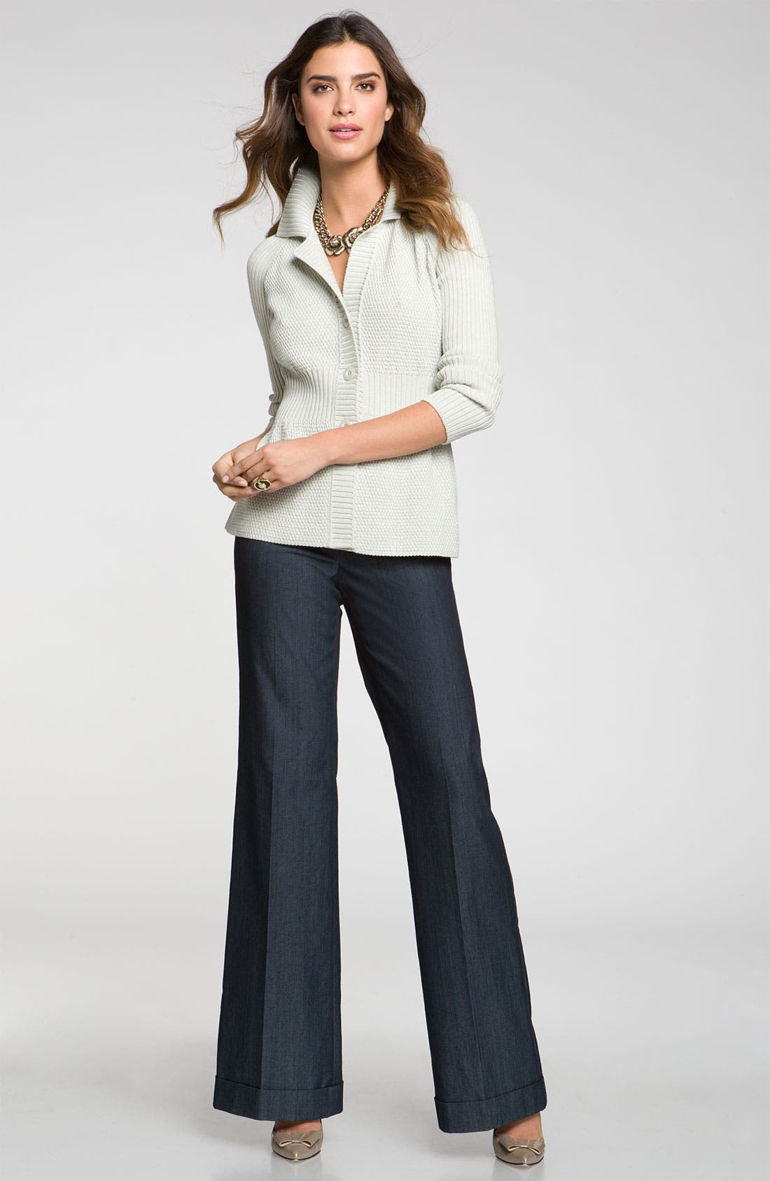 Main Image - St. John Collection 'Paula' Wide Leg Denim Pants