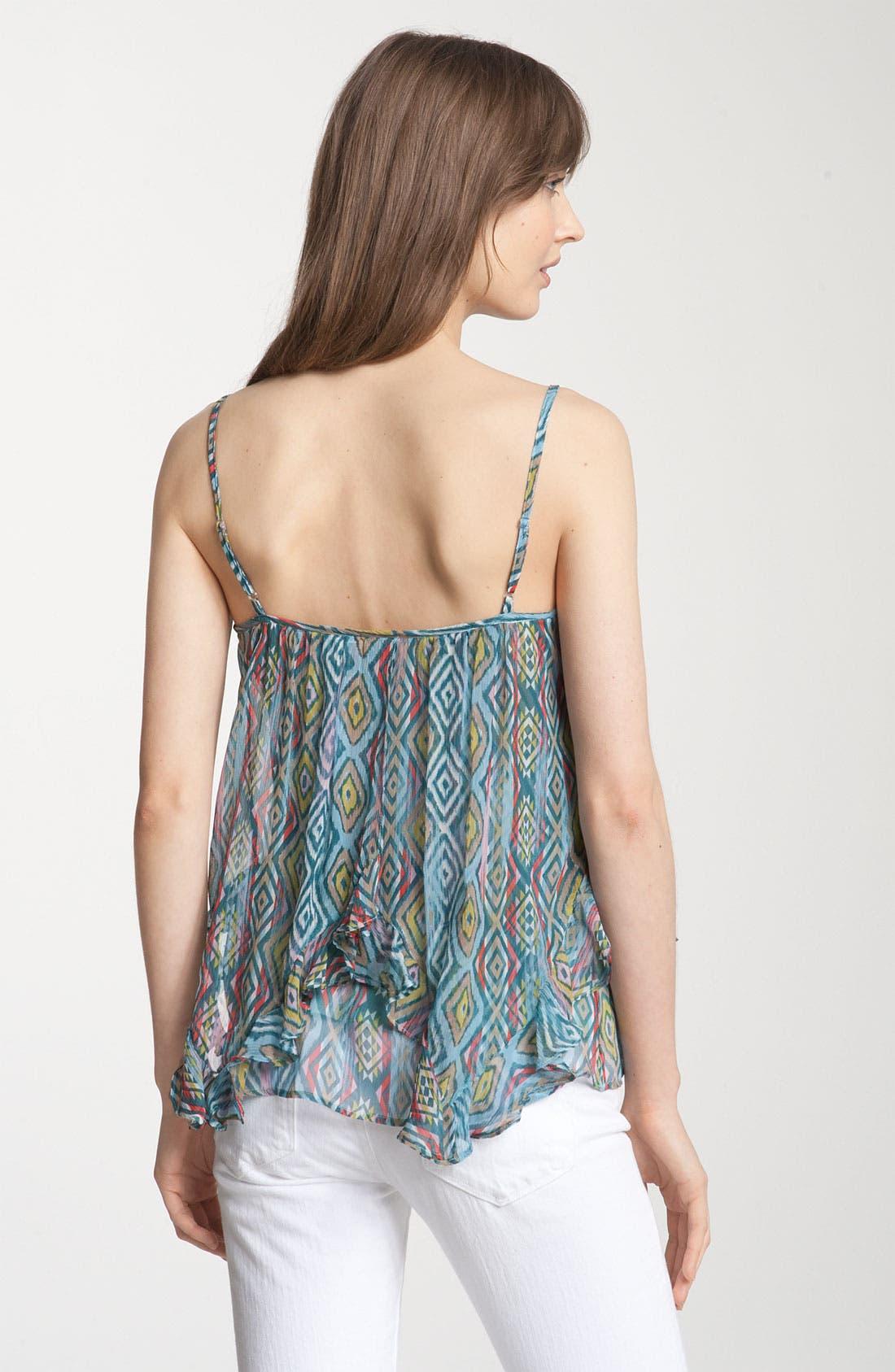Alternate Image 2  - Ella Moss 'Aztec' Print Silk Flyaway Camisole