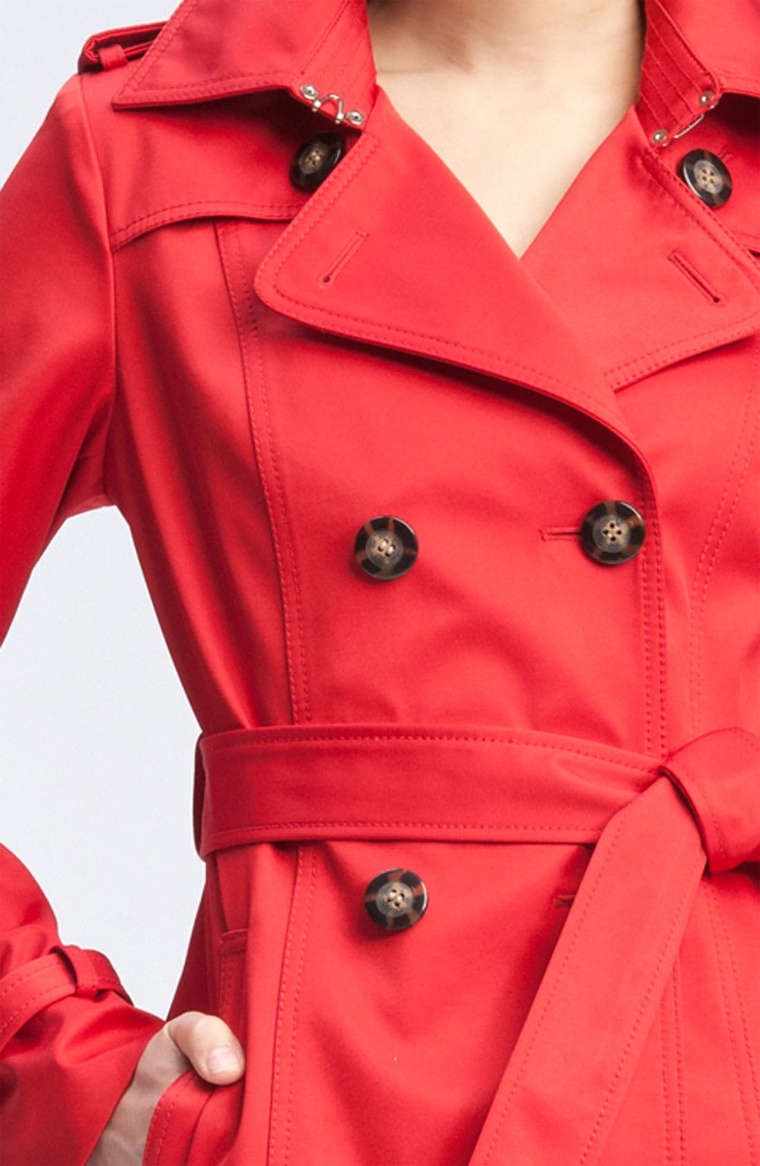 Alternate Image 3  - Dawn Levy Double Breasted Trench Coat