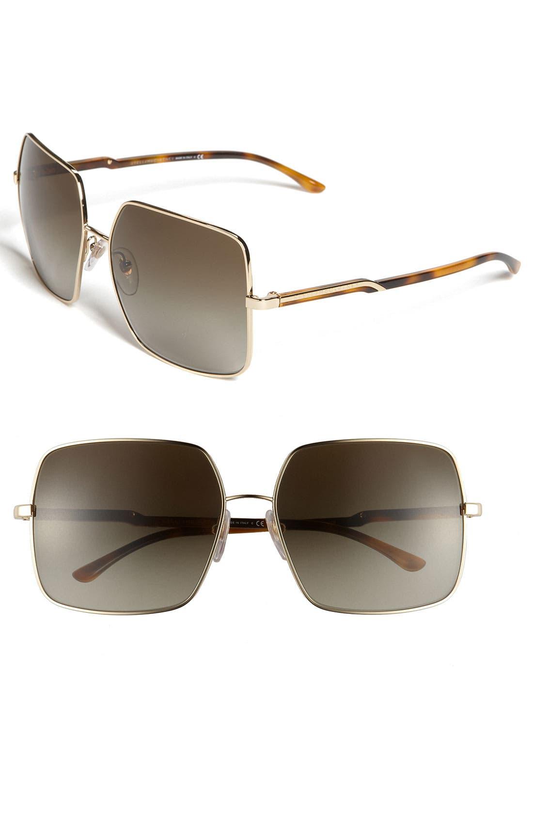 Main Image - Stella McCartney Metal Square Sunglasses
