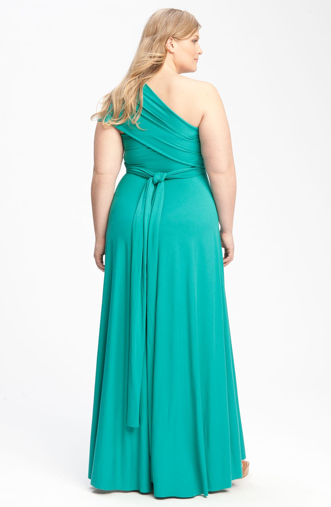 Alternate Image 2  - Monif C 'Marilyn' Convertible Jersey Gown (Plus)