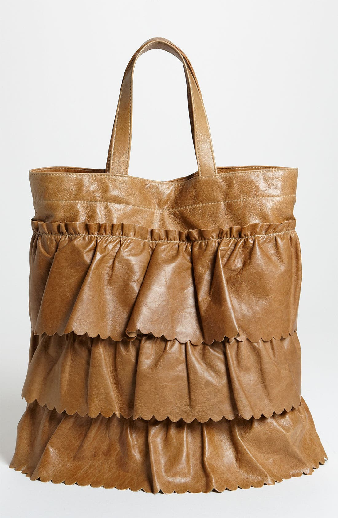 Main Image - RED Valentino 'Vintage Ruffle' Lambskin Leather Tote