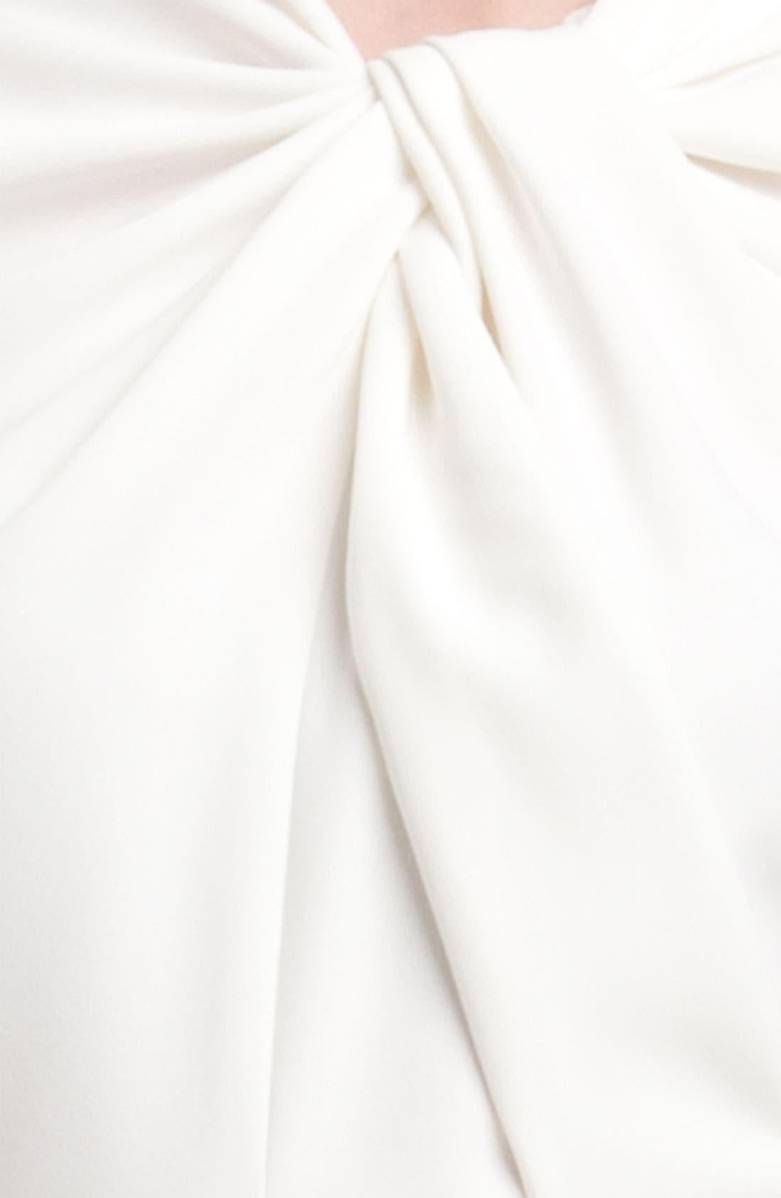 Alternate Image 4  - Carmen Marc Valvo Twist Neck Crepe Gown