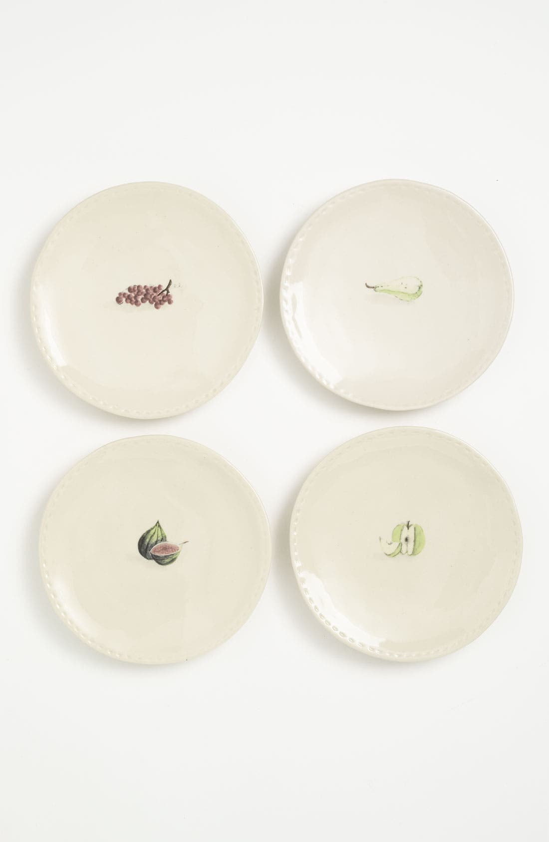 Main Image - Rae Dunn by Magenta 'Stitched Fruit' Plates (Set of 4)