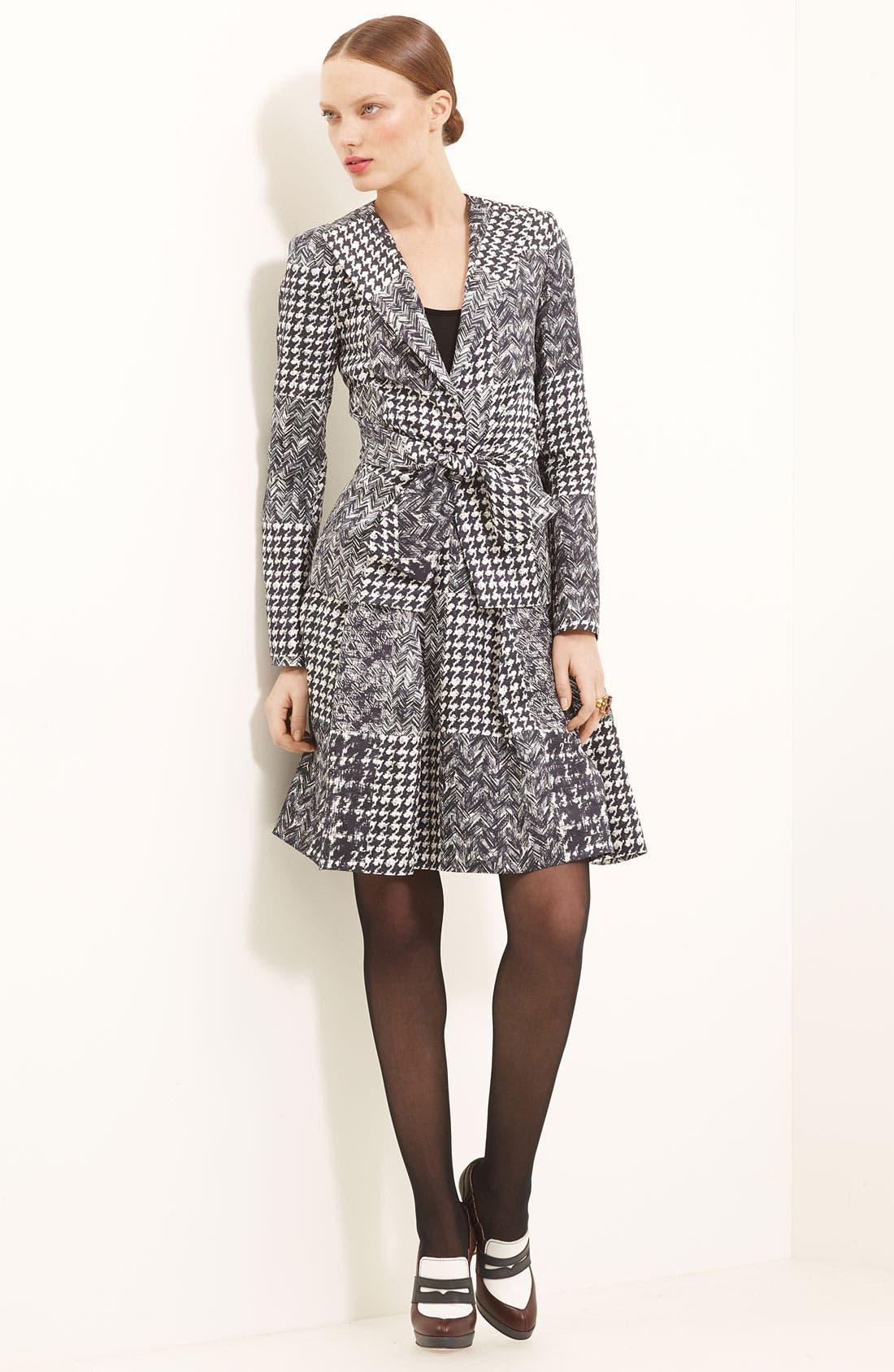 Alternate Image 1 Selected - Oscar de la Renta Patchwork Jacket & Skirt