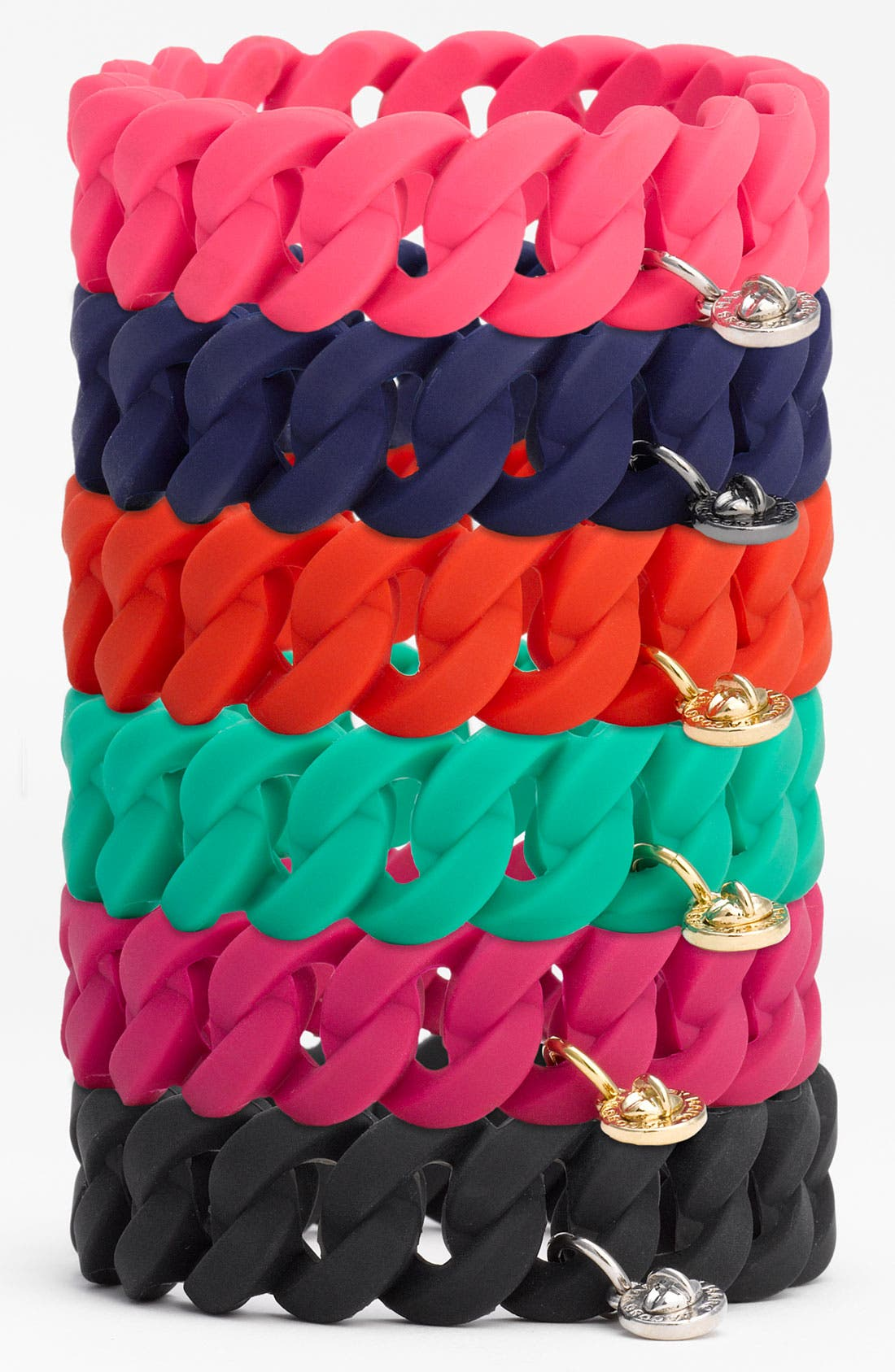Alternate Image 1 Selected - MARC BY MARC JACOBS 'Rubber Turnlock' Stretch Bracelet