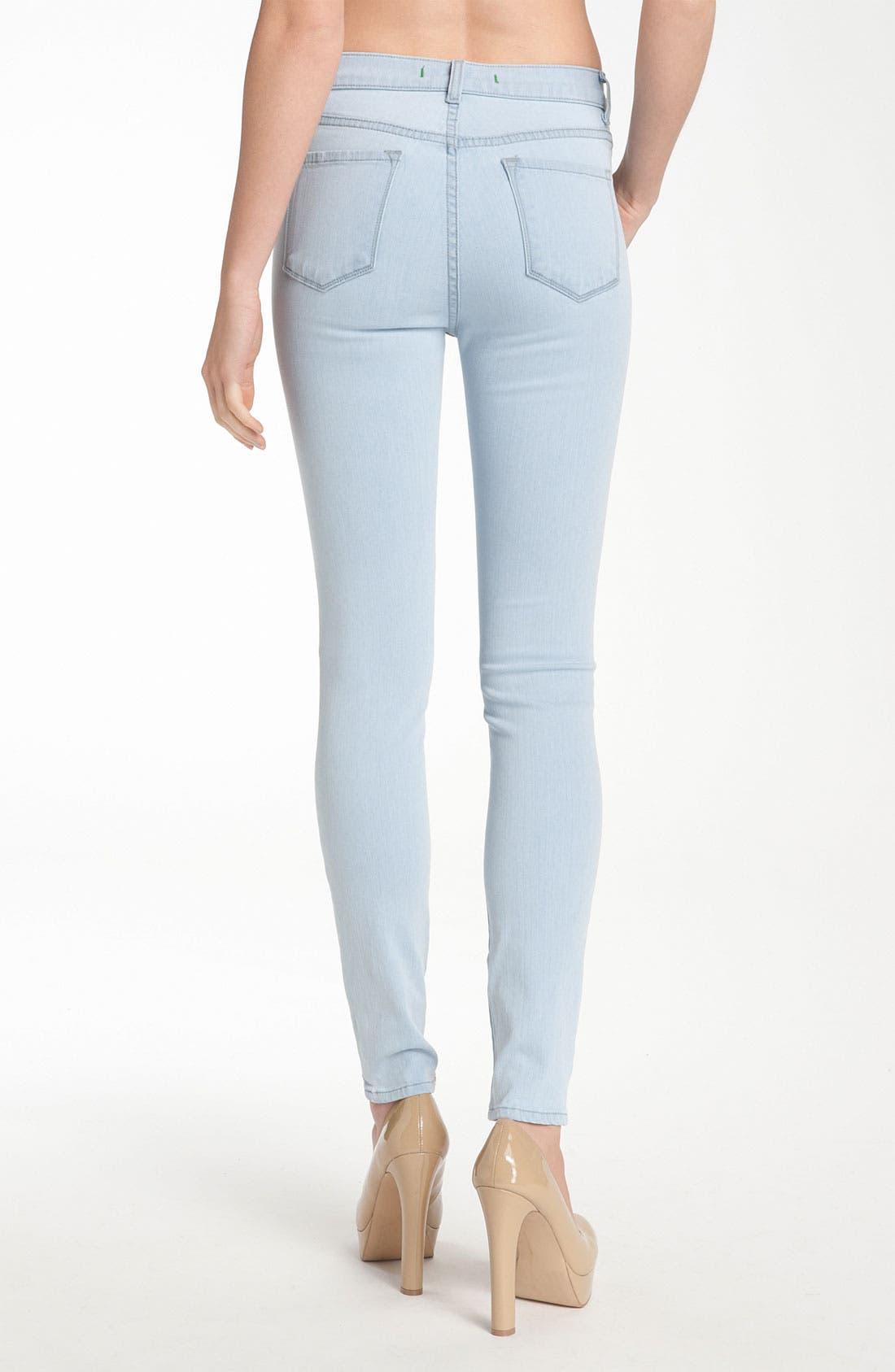 Alternate Image 2  - J Brand 'Maria' High Rise Skinny Leg Stretch Jeans (Iceland)
