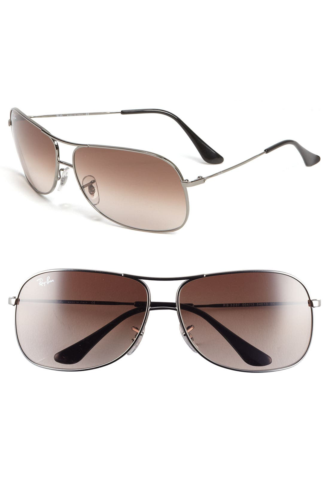Alternate Image 1 Selected - Ray-Ban 'Square Aviator' 56mm Sunglasses