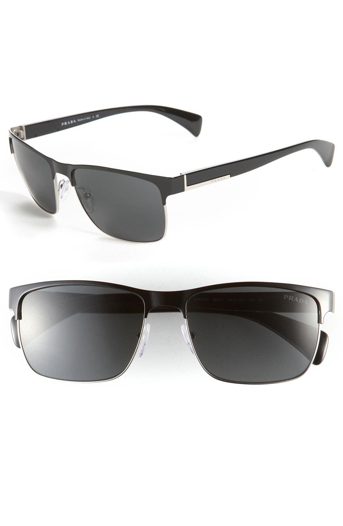 Alternate Image 1 Selected - Prada 58mm Sunglasses