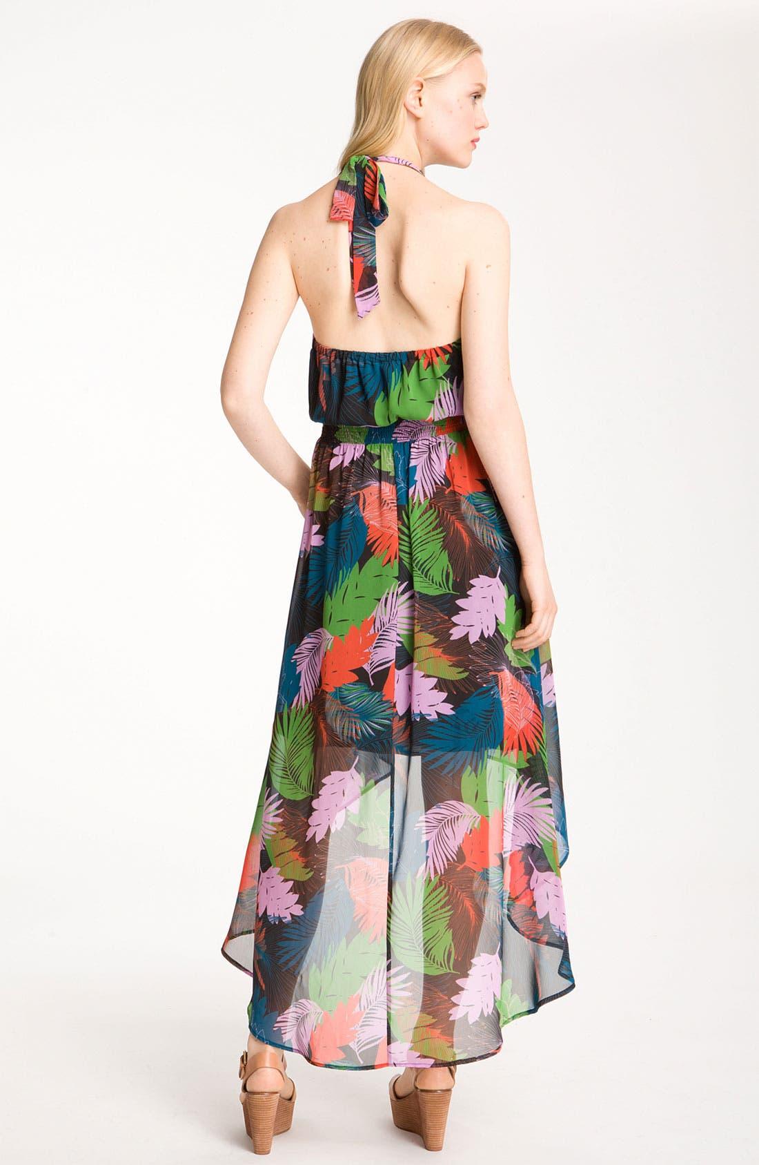 Alternate Image 2  - Bellatrix Print Chiffon Halter Dress