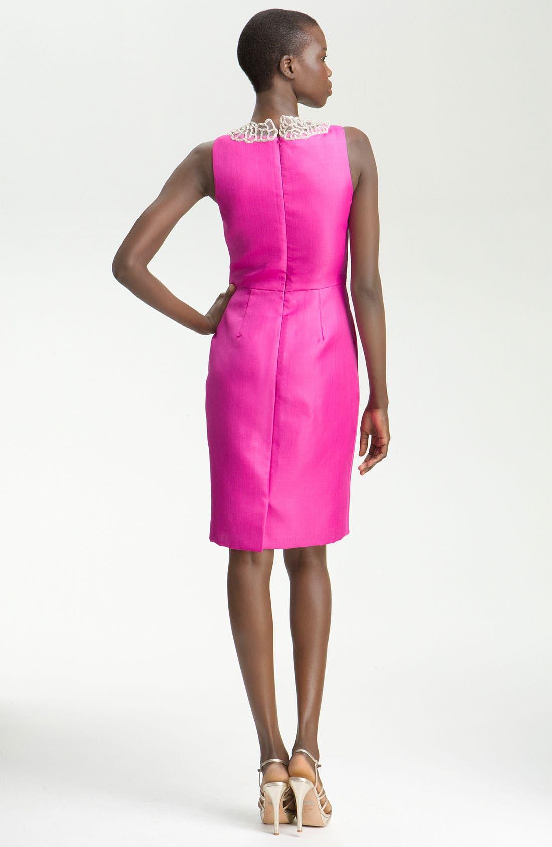 Alternate Image 2  - Lela Rose Embroidered Bib Dress