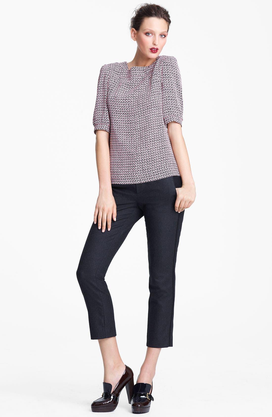 Alternate Image 4  - Marni Edition Crop Straight Leg Flannel Trousers