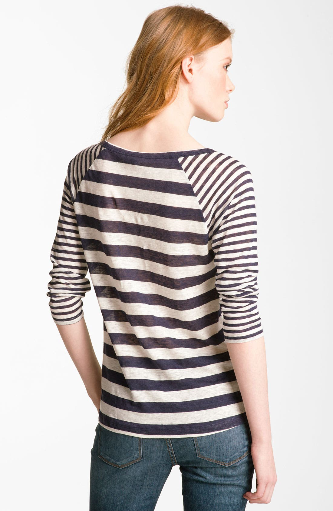 Alternate Image 2  - Joie 'Gloriosa' Sheer Stripe Raglan Top
