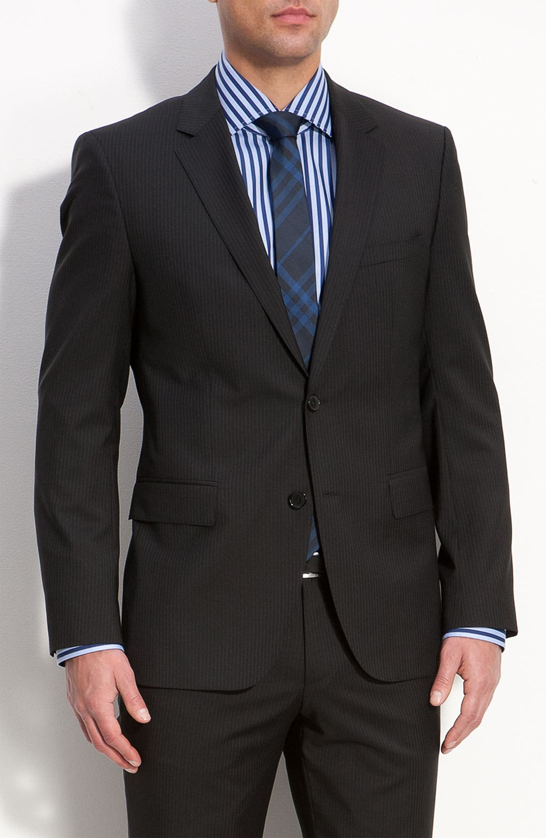 Alternate Image 1 Selected - BOSS Black 'James/Sharp' Trim Fit Wool Suit
