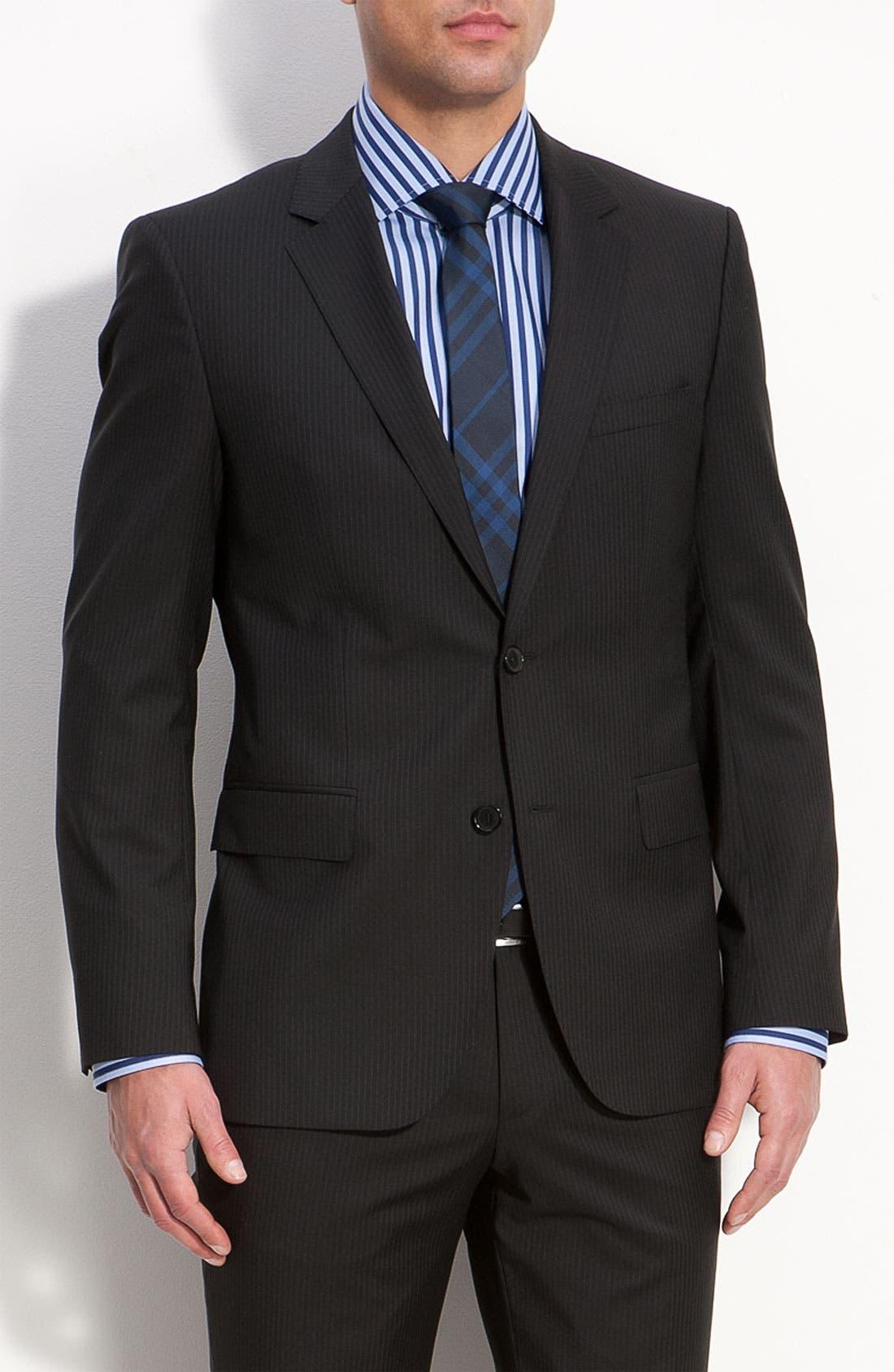 Main Image - BOSS Black 'James/Sharp' Trim Fit Wool Suit
