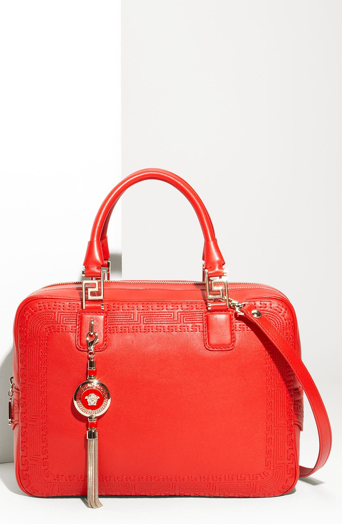 Alternate Image 1 Selected - Versace Leather Satchel
