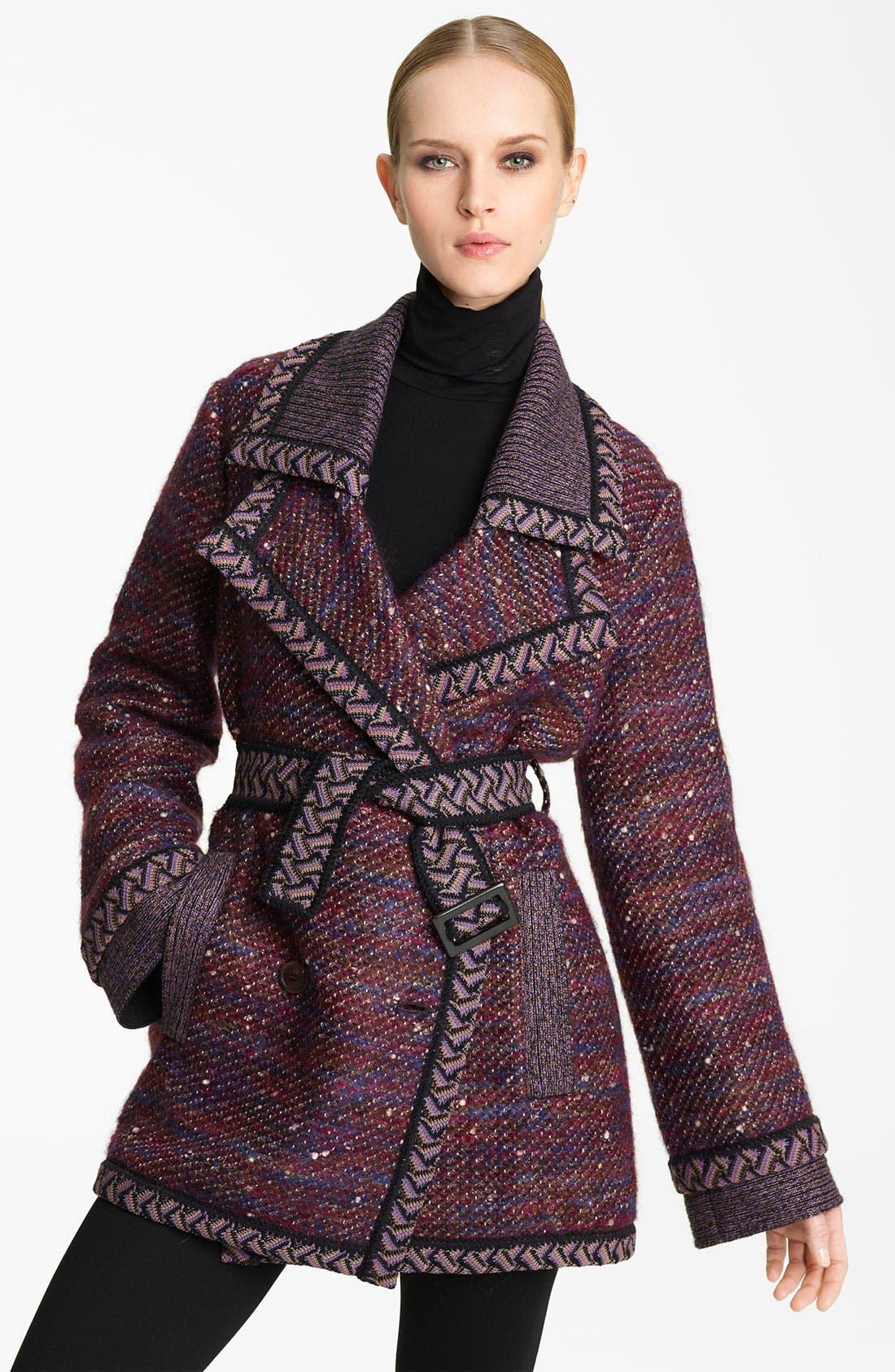 Main Image - Missoni Belted Tweed Coat
