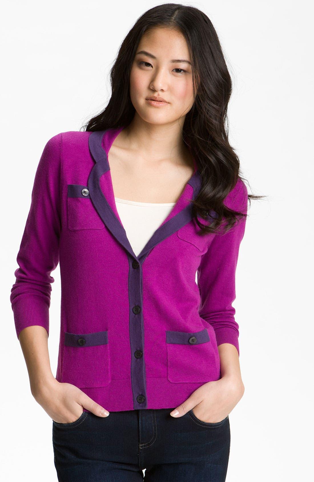 Alternate Image 1 Selected - Halogen® Tipped Sweater Blazer