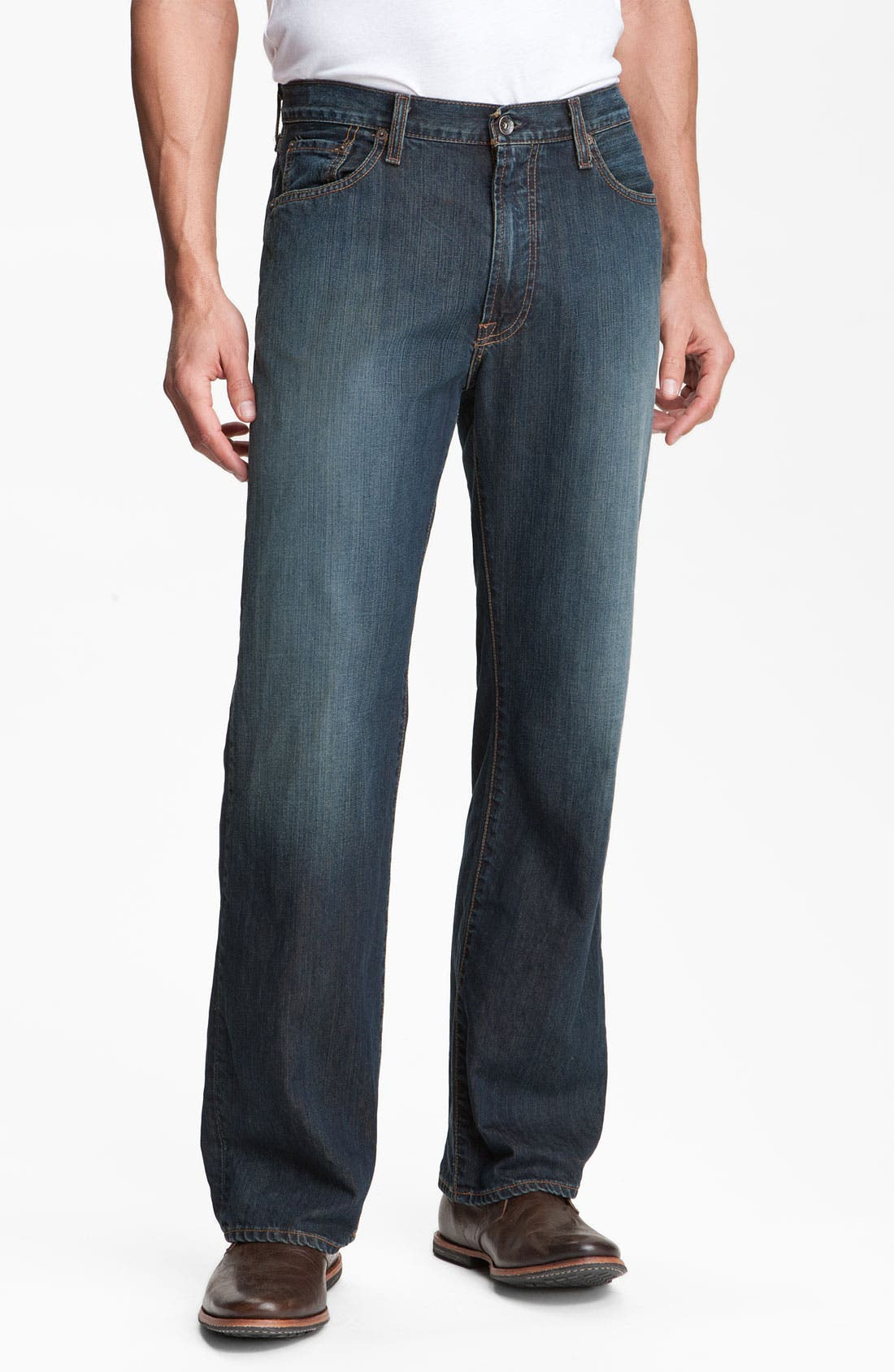 Alternate Image 1 Selected - Lucky Brand Relaxed Straight Leg Jeans (Love Train)(Big & Tall)