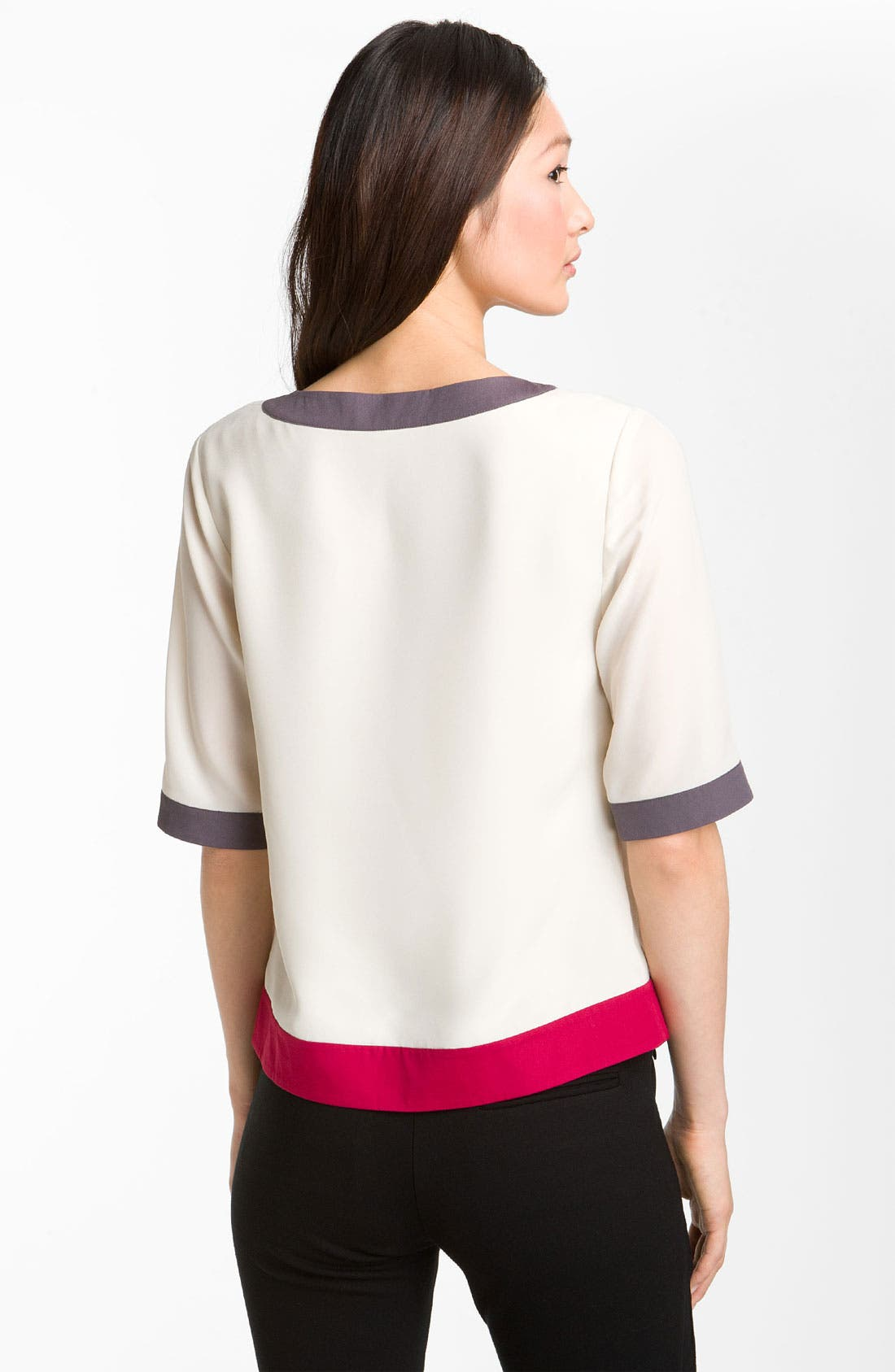 Alternate Image 2  - Ted Baker London Colorblock Woven Tee