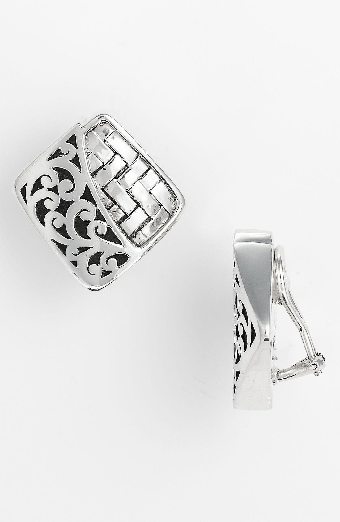 Main Image - Lois Hill 'Basket Weave' Diamond Shape Clip Earrings