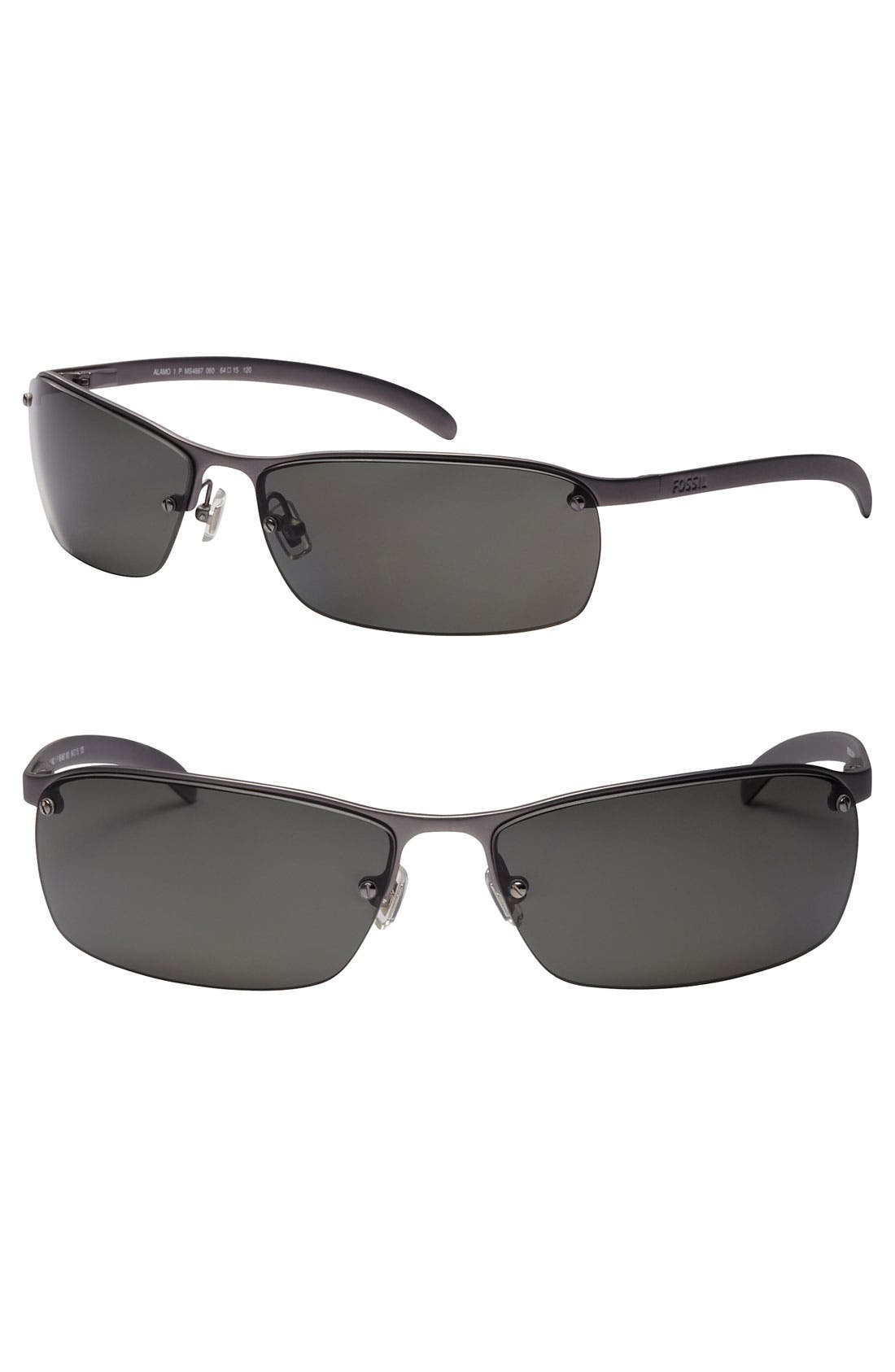 Main Image - Fossil 'Allen' 64mm Polarized Sunglasses