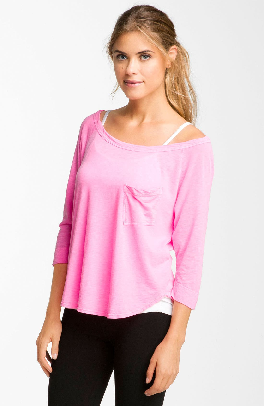 Main Image - Hard Tail Wide Neck Top