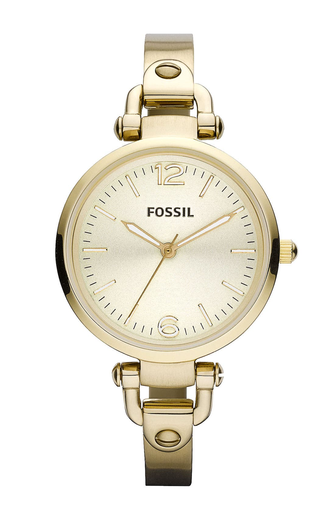 Alternate Image 1 Selected - Fossil 'Georgia' Round Dial Bangle Watch, 32mm