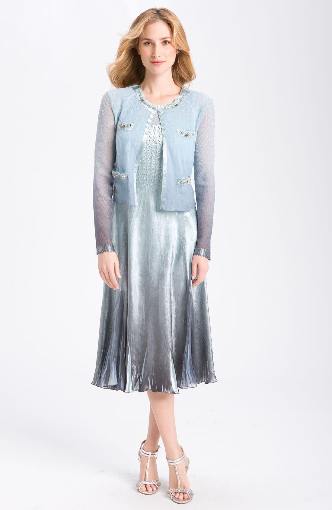 Main Image - Komarov Sleeveless Chiffon Dress & Jacket