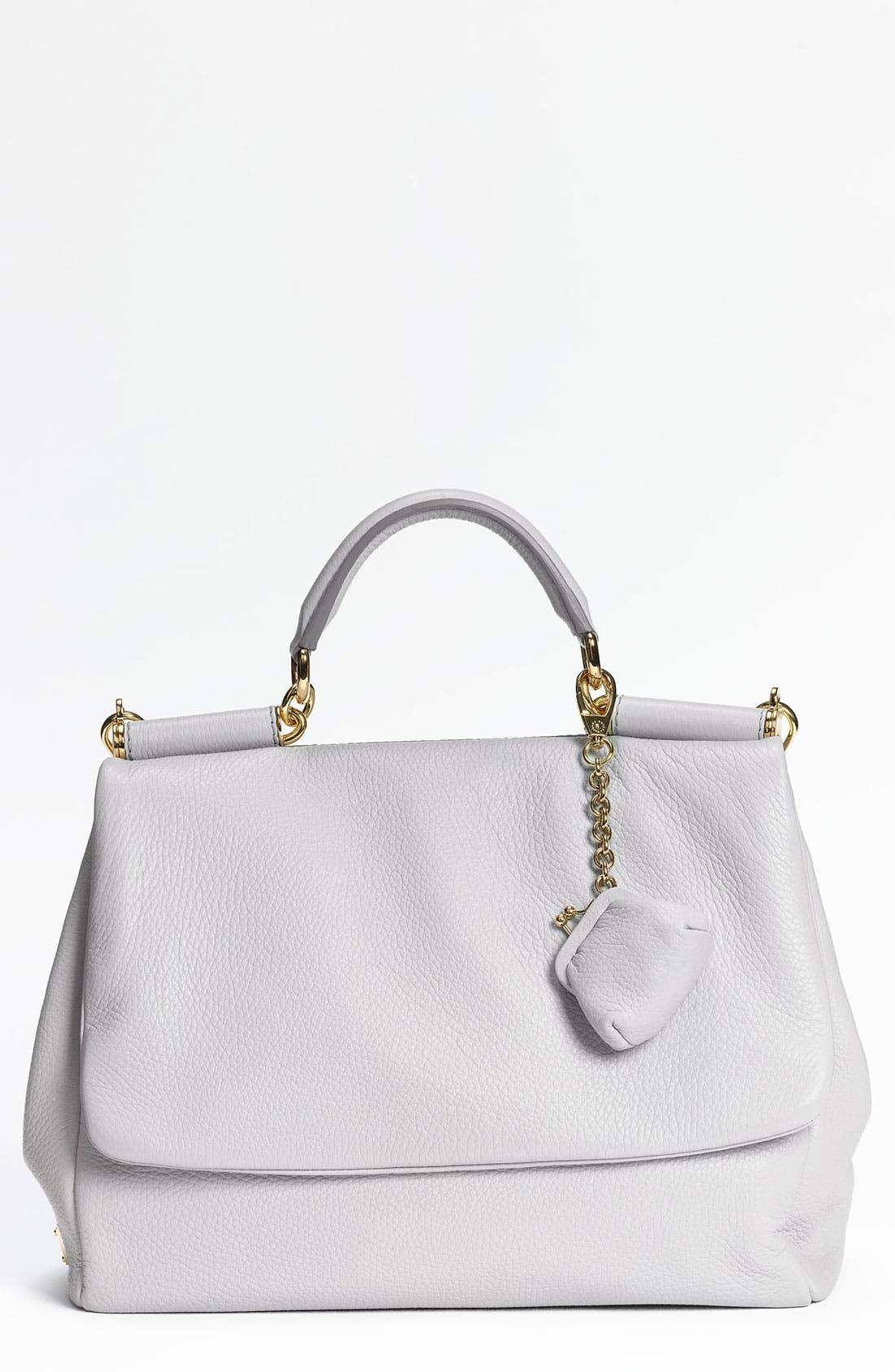 Alternate Image 1 Selected - Dolce&Gabbana 'Miss Sicily Soft' Leather Satchel