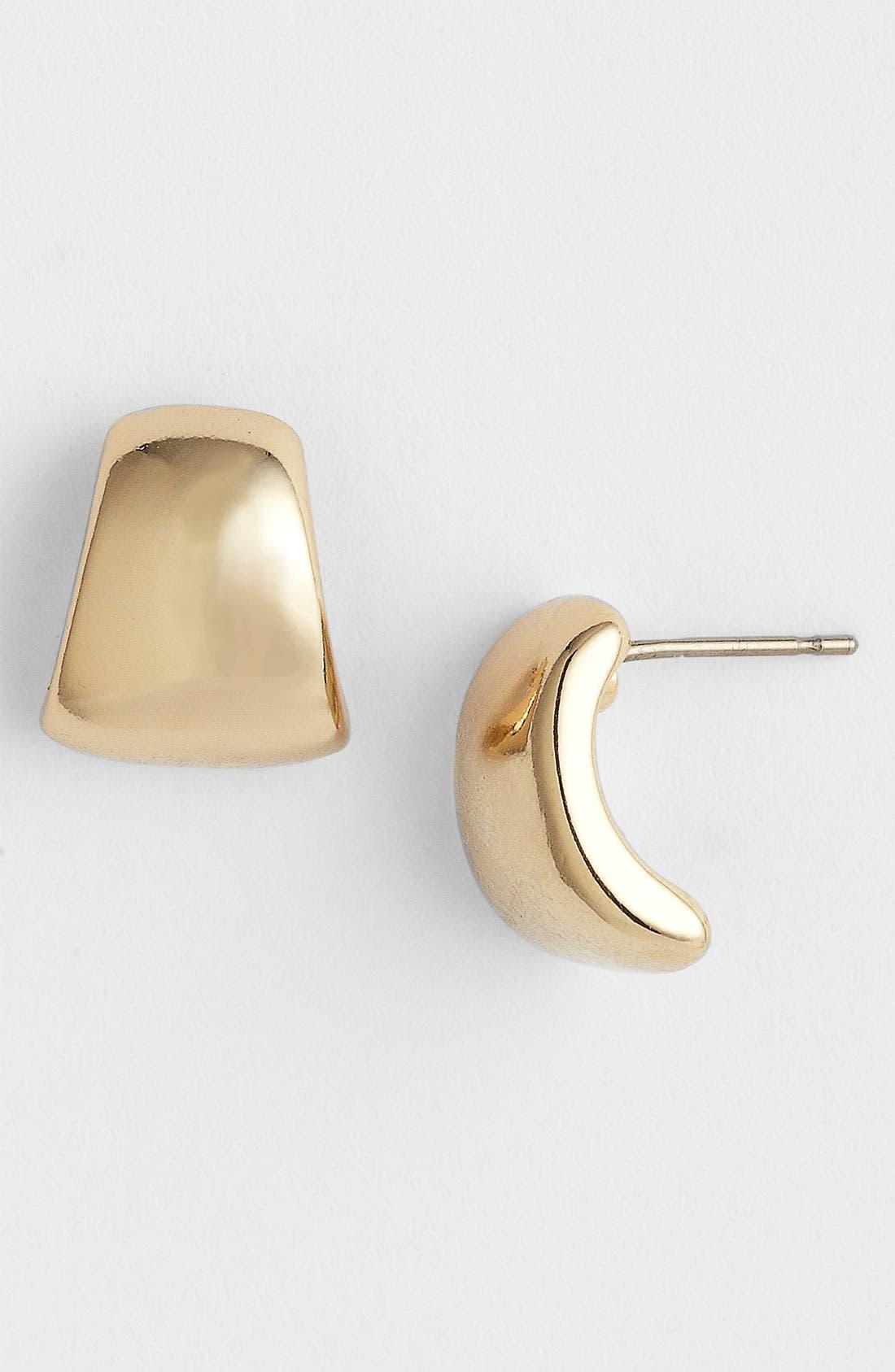 Alternate Image 1 Selected - Anne Klein Small Half Hoop Earrings