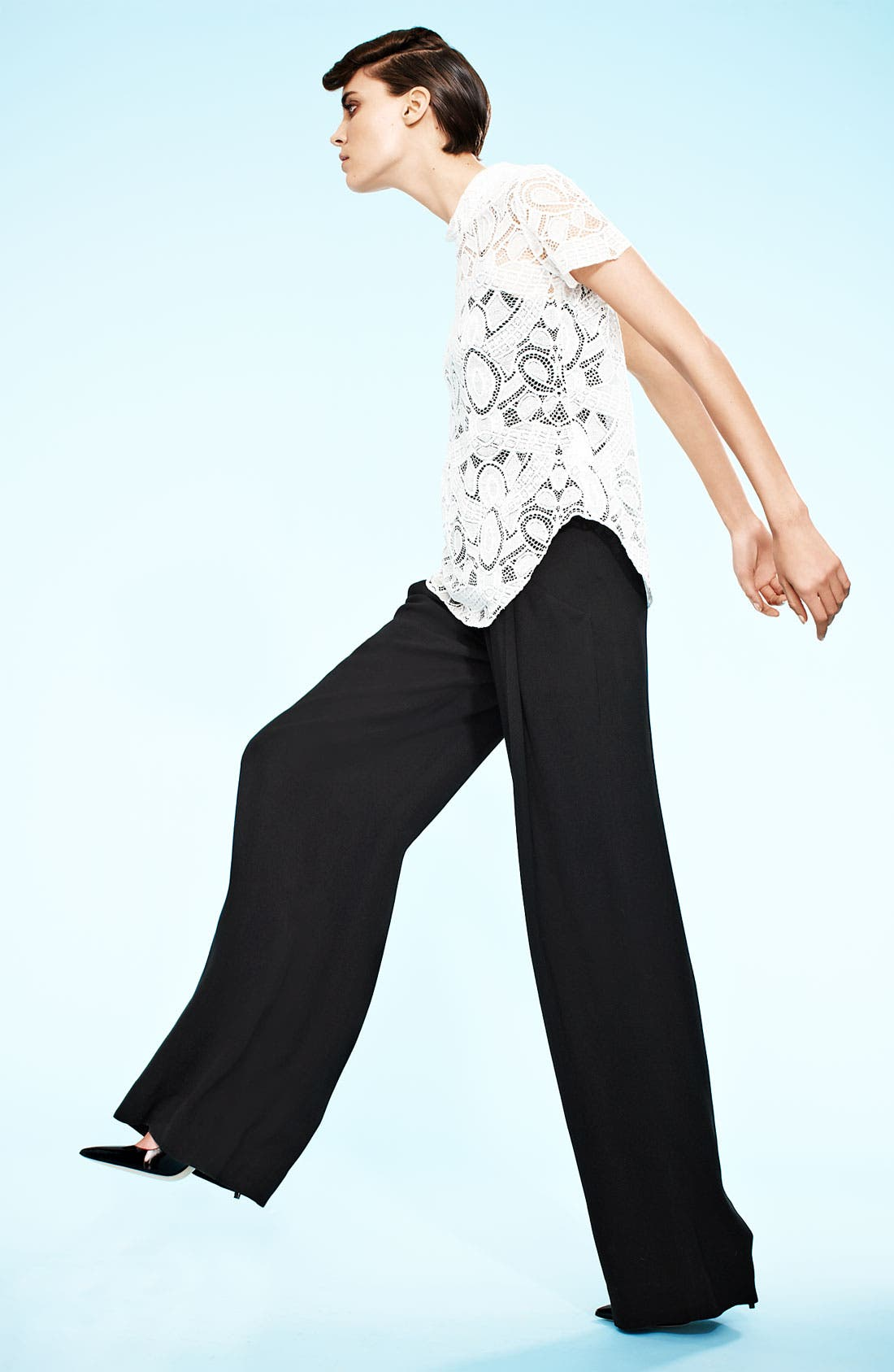 Alternate Image 3  - L'AGENCE 'Floor Sweeper' Belted Wide Leg Pants