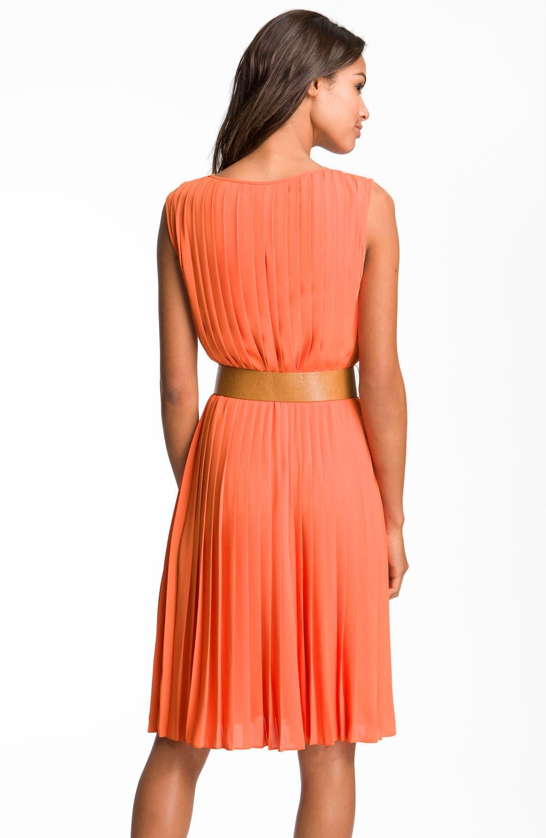 Alternate Image 2  - Maggy London Sleeveless Pleated Chiffon Dress