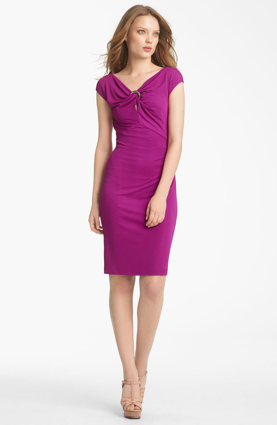 Main Image - Roberto Cavalli Cap Sleeve Jersey Dress