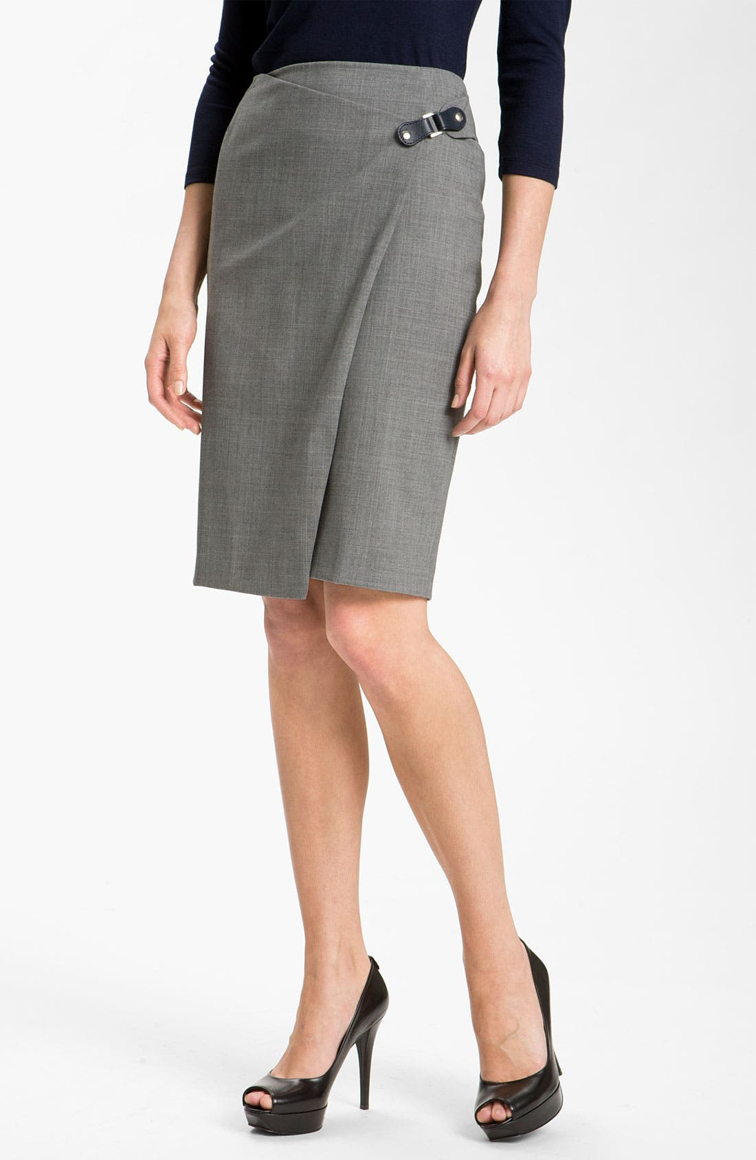 Alternate Image 1 Selected - Lafayette 148 New York Faux Wrap Skirt