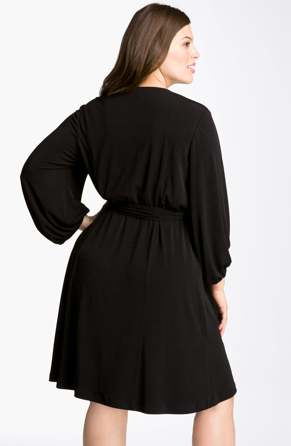 Alternate Image 2  - Donna Ricco Faux Wrap Jersey Dress (Plus Size)