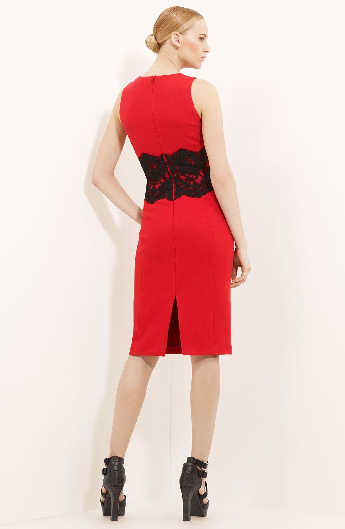 Alternate Image 2  - Michael Kors Lace Detail Bouclé Dress