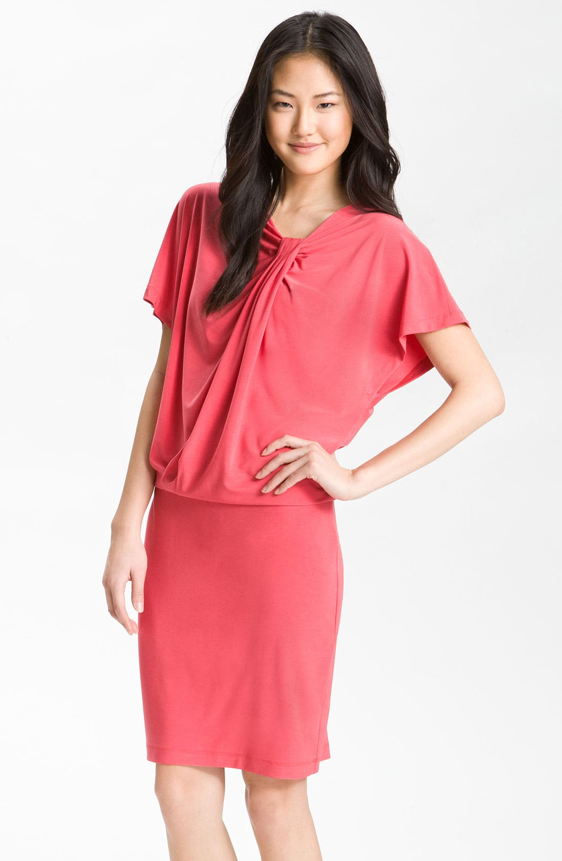 Alternate Image 1 Selected - Alex & Ava Knot Detail Blouson Jersey Dress