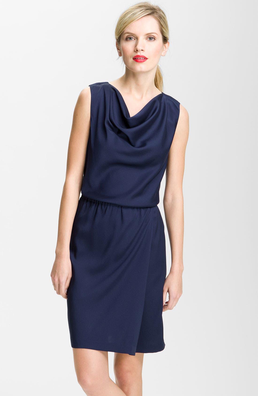 Alternate Image 1 Selected - Valette Drape Neck Twill Dress