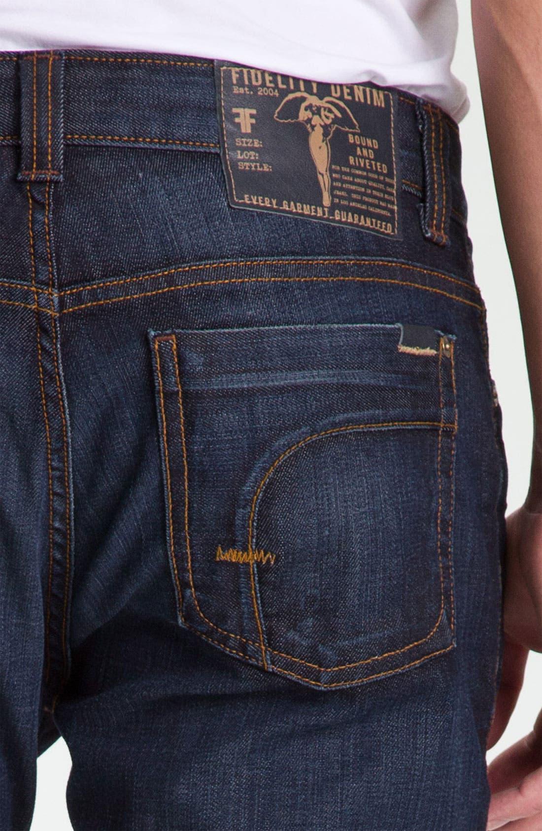 Alternate Image 4  - Fidelity Denim 'Impala' Slim Straight Leg Jeans (Altmont Dark Vintage)