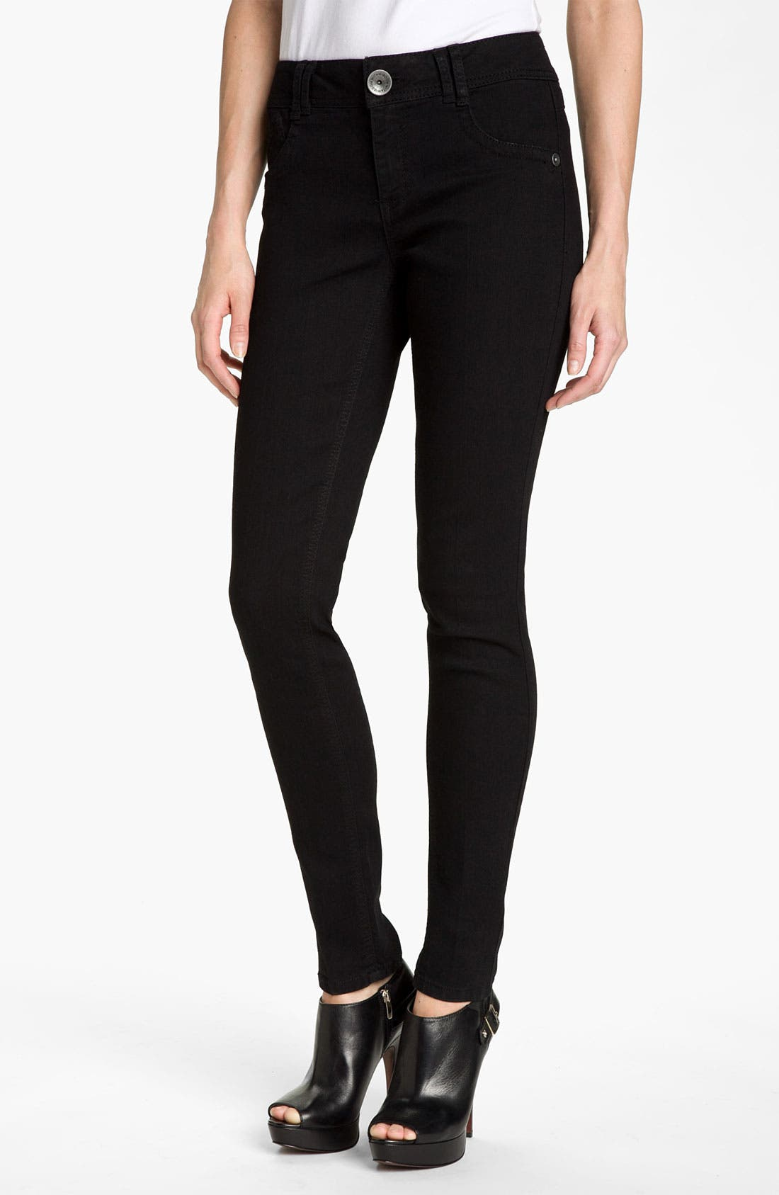 Main Image - Wit & Wisdom Denim Leggings (Black Wash) (Nordstrom Exclusive)