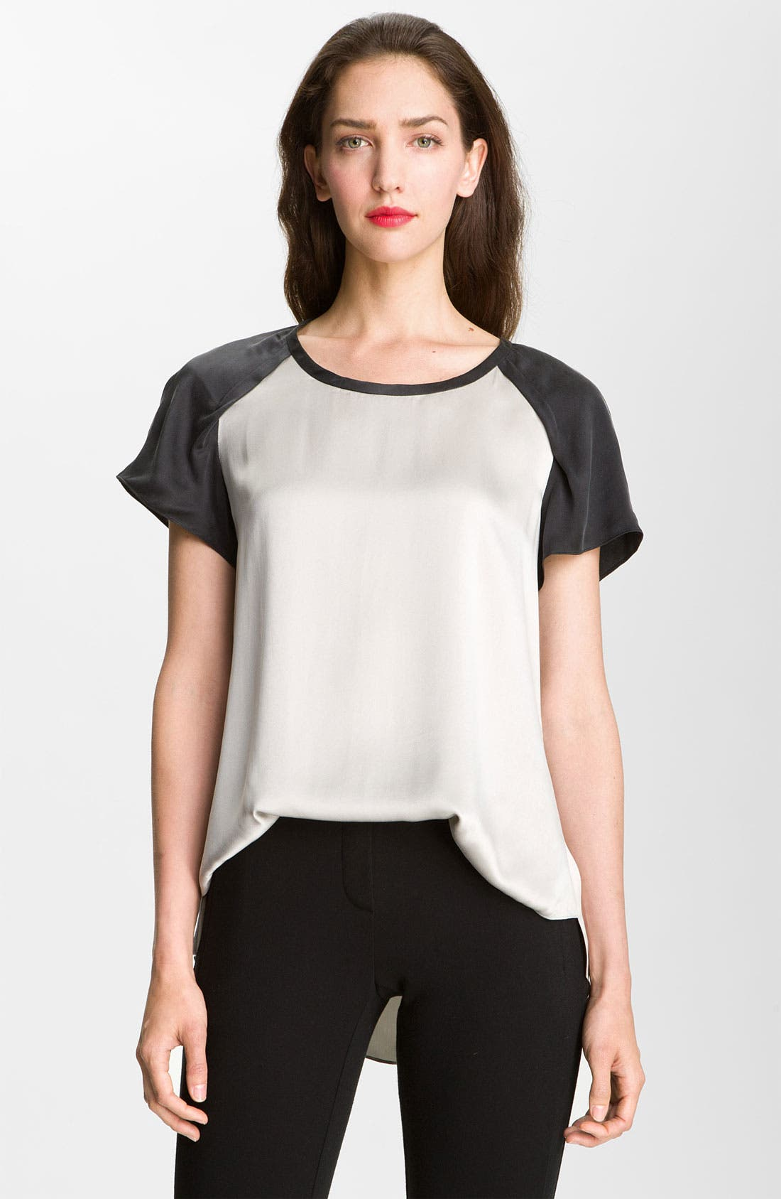 Alternate Image 1 Selected - Rebecca Taylor Washed Silk Blouse